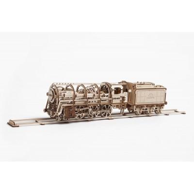 Ugears-12023 Puzzle 3D en Bois - Steam Locomotive with Tender