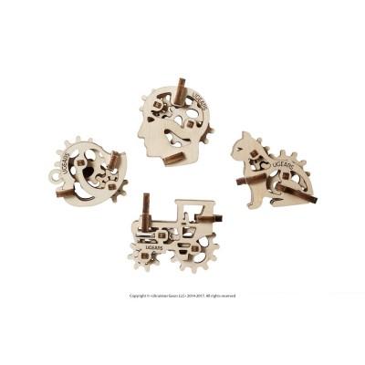 Ugears-12058 Puzzle 3D en Bois - U-Fidgets-Tribiks
