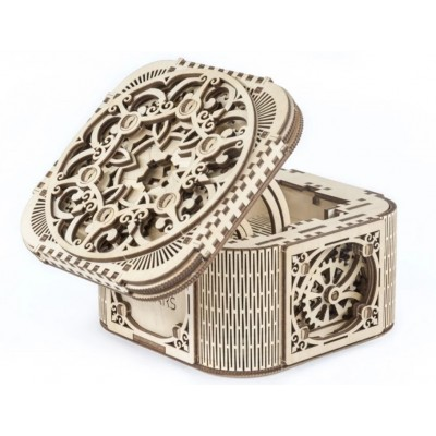 Ugears-12059 Puzzle 3D en Bois - Treasure Box