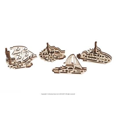 Ugears-12063 Puzzle 3D en Bois - U-Fidgets-Ships