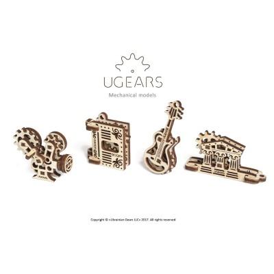 Ugears-12069 Puzzle 3D en Bois - U-Fidgets-Creation Set