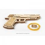Ugears-12072 Puzzle 3D en Bois - Wolf-01 Handgun