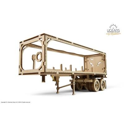Ugears-12087 Puzzle 3D en Bois - Remorque pour Camion Heavy Boy Truck VM-03