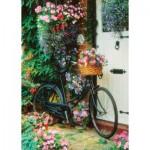 Art-Puzzle-4166 Vélo et Fleurs