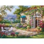 Art-Puzzle-4177 Sung Kim : Terrasse au Printemps II