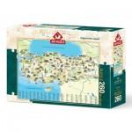Art-Puzzle-4288 Carte de la Turquie