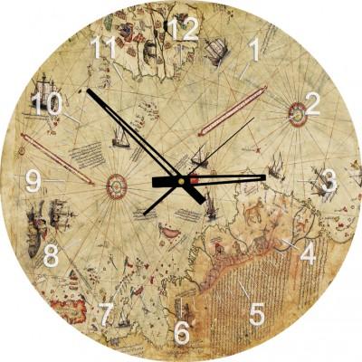 Art-Puzzle-4297 Puzzle Horloge - Carte de Piri Reis (Pile non fournie)