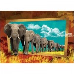 Art-Puzzle-4373 Eléphants