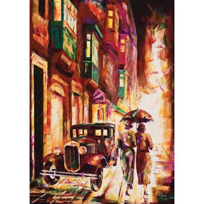 Art-Puzzle-4426 Malte : La Valette au Crépuscule