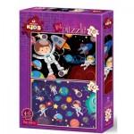Art-Puzzle-4495 2 Puzzles - Espace