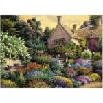 Art-Puzzle-4541 Cottage et Jardin Coloré
