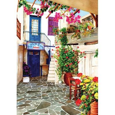 Art-Puzzle-4581 Flower Courtyard