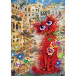 Art-Puzzle-4582 Red Cat