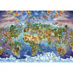 Art-Puzzle-4717 World Wonders Illustrated Map