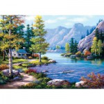 Art-Puzzle-4718 Lakeside Lodge