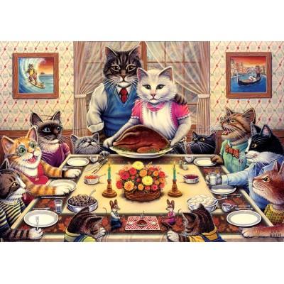 Art-Puzzle-5025 Cat Family
