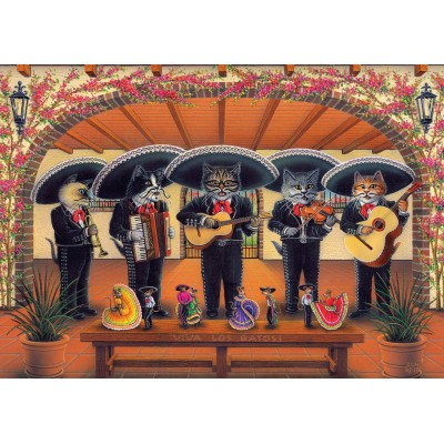 Art-Puzzle-5082 Flamenco Meow Team