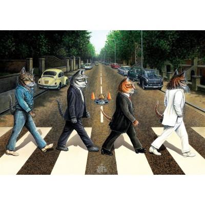 Art-Puzzle-5193 Cat Road
