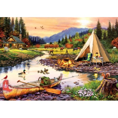 Art-Puzzle-5520 Camping Friends
