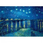 Art-by-Bluebird-Puzzle-60002 Vincent Van Gogh - Starry Night over the Rhône, 1888