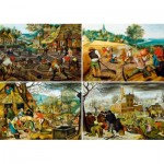 Art-by-Bluebird-Puzzle-60020 Pieter Brueghel the Younger - The Four Seasons