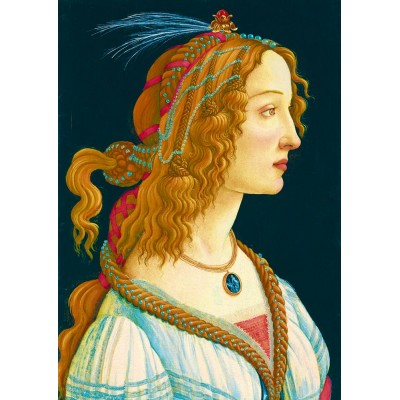 Art-by-Bluebird-Puzzle-60023 Sandro Botticelli - Idealized Portrait of a Lady, 1480