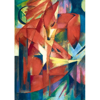 Art-by-Bluebird-Puzzle-60068 Franz Marc - The Foxes, 1913