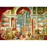 Art-by-Bluebird-Puzzle-60075 Panini - Picture Gallery with Views of Modern Rome, 1757