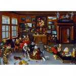 Art-by-Bluebird-Puzzle-60077 Hieronymus Francken Iicirca - The Archdukes Albert and Isabella Visiting a Collector's Cabinet, 1623