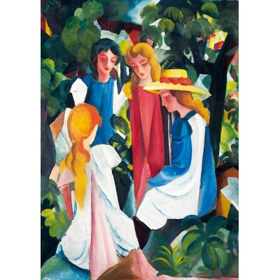 Art-by-Bluebird-Puzzle-60082 August Macke - Four Girls, 1913