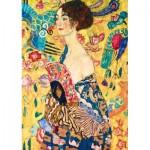 Art-by-Bluebird-Puzzle-60095 Gustave Klimt - Lady with Fan, 1918
