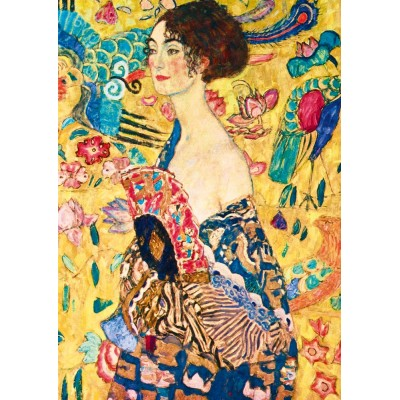 Art-by-Bluebird-Puzzle-60095 Gustave Klimt - Lady with Fan, 1918