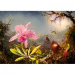 Art-by-Bluebird-Puzzle-60097 Martin Johnson Heade - Cattleya Orchid and Three Hummingbirds, 1871