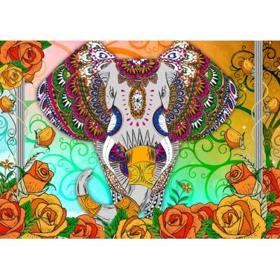 Bluebird-Puzzle-70002 Colorful Elephant