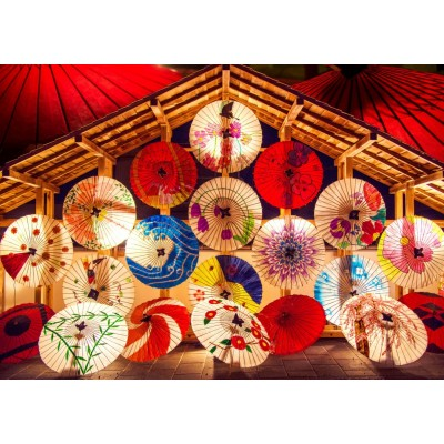 Bluebird-Puzzle-70008 Japanese Umbrellas