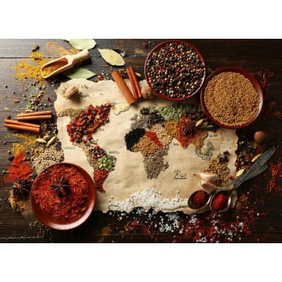 Bluebird-Puzzle-70014 World Map in Spices