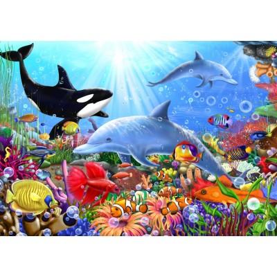 Bluebird-Puzzle-70028 Bright Undersea World