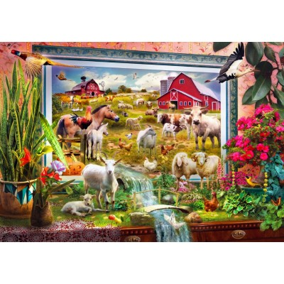 Bluebird-Puzzle-70029 Magic Farm Painting
