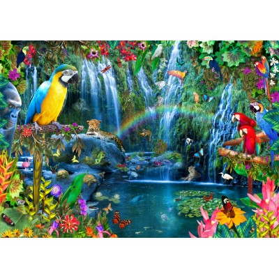 Bluebird-Puzzle-70030 Parrot Tropics