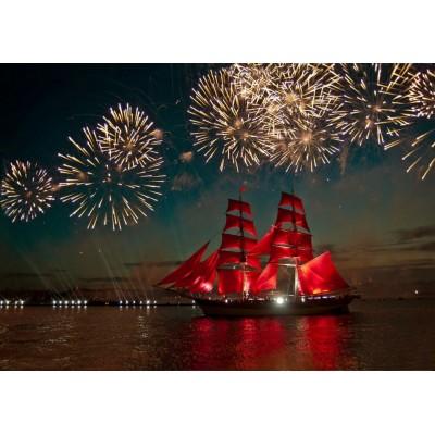 Bluebird-Puzzle-70041 Fireworks around a Sailboat