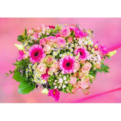 Bluebird-Puzzle-70046 Pink Bouquet of Roses