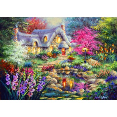 Bluebird-Puzzle-70060 Cottage Pond