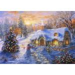 Bluebird-Puzzle-70065 Christmas Cottage