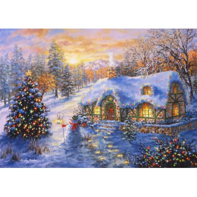 Bluebird-Puzzle-70065 Christmas Cottage