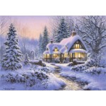 Bluebird-Puzzle-70066 Winter's Blanket Wouldbie Cottage