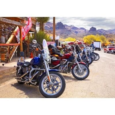 Bluebird-Puzzle-70067 Rt 66 Fun Run Oatman Motorcycles 4-16 8377