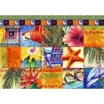 Bluebird-Puzzle-70081 Tropical Quilt Mosaic