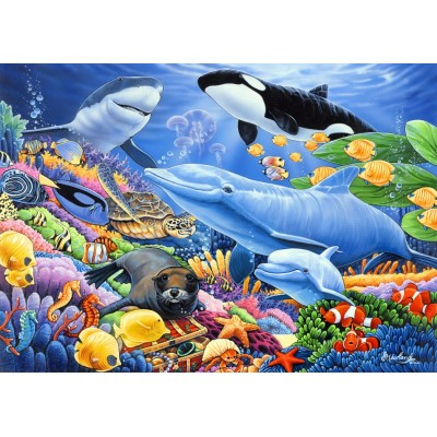 Bluebird-Puzzle-70084 Sealife