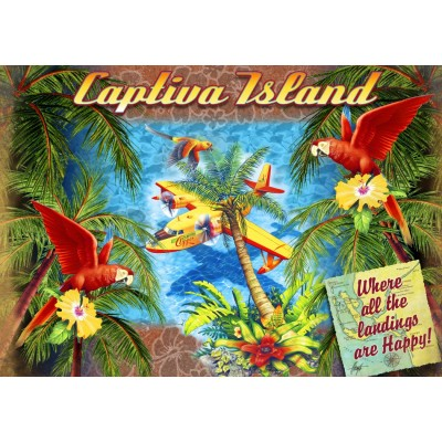 Bluebird-Puzzle-70104 Parrot Palm Clipper