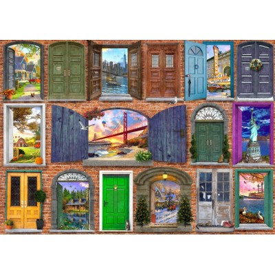 Bluebird-Puzzle-70116 Doors of USA